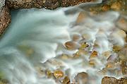 Maligne River in Maligne Canyon<br /> Jasper National Park<br /> Alberta<br /> Canada
