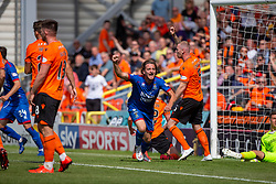 Inverness Caledonian Thistle's Tom Walsh celebrates after scoring their goal, half time : Dundee United 2 v 1 Inverness Caledonian Thistle, first Scottish Championship game of season 2019-2020, played 3/8/2019 at Tannadice Park, Dundee.