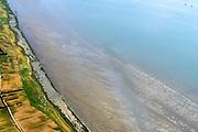 Nederland, Friesland, Terschelling, 05-08-2014;  Terschellingerpolder ten oosten van Oosterend. Zicht op het Wad en de Waddenzee.<br /> Wadden island Terschelling with polders and Wadden Sea.<br /> luchtfoto (toeslag op standard tarieven);<br /> aerial photo (additional fee required);<br /> copyright foto/photo Siebe Swart
