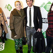 NLD/Amsterdam/20150112 - Premiere 6 Telefilms 2015, Annemarie Jung en partner Bert Rutteman