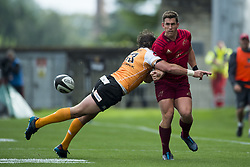 September 9, 2017 - Limerick, Ireland - Ian Keatley of Munster Francois Venter of Cheetahs during the Guinness PRO14 rugby match between Munster Rugby and Cheetahs Rugby at Thomond Park in Limerick, Ireland on September 9, 2017  (Credit Image: © Andrew Surma/NurPhoto via ZUMA Press)