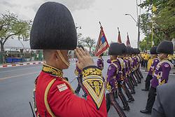 Parade to Royal Palace, Gen Apirat Kongsompong (red jacket), Coronation of the King of Thailand, Rama X, His Majesty King Maha Vajiralongkorn Bodindradebayavarangkun, in Bangkok, Thailand, on May 04, 2019. Photo by Loic Baratoux /ABACAPRESS.COM