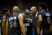DALLAS, TX - JANUARY 6:  Head Coach Danny Manning of the Tulsa Golden Hurricane has words with his team during a timeout against the SMU Mustangs on January 6, 2013 at Moody Coliseum in Dallas, Texas.  (Photo by Cooper Neill/Getty Images) *** Local Caption *** Danny Manning
