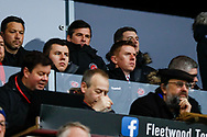 Fleetwood Town Manager Joey Barton in the stands during the The FA Cup 3rd round match between Fleetwood Town and AFC Wimbledon at the Highbury Stadium, Fleetwood, England on 5 January 2019.