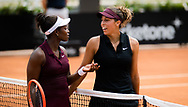 Sloane Stephens and Madison Keys of the United States after their first round match at the 2021 Internazionali BNL d'Italia, WTA 1000 tennis tournament on May 11, 2021 at Foro Italico in Rome, Italy - Photo Rob Prange / Spain ProSportsImages / DPPI / ProSportsImages / DPPI