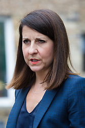 © Licensed to London News Pictures. 08/09/2015. London, UK. Labour party leadership candidate, LIZ KENDALL MP visits Clapham Manor Children's Centre in south west London. Photo credit : Vickie Flores/LNP
