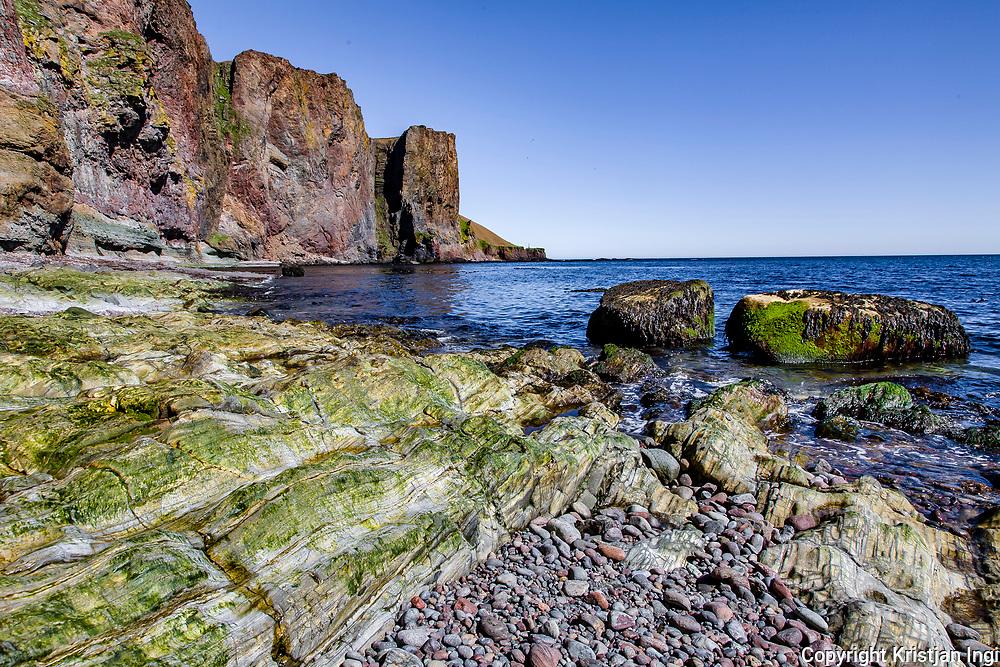 Barðsnes.The promontory Barðsneshorn, on Iceland's eastern tip.