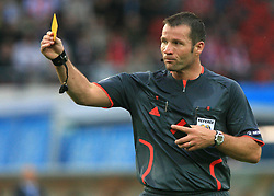 Referee Pieter Vink of Nederland during the UEFA EURO 2008 Group B soccer match between Austria and Croatia at Ernst-Happel Stadium, on June 8,2008, in Vienna, Austria.  (Photo by Vid Ponikvar / Sportal Images)