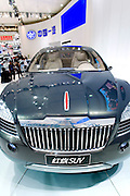 China's First Automobile Works (FAW) automaker's new Hongqi SUV car is unveiled during Shanghai Motor Show, in Shanghai, China, on April 20, 2009. Shanghai auto show opened Monday for the press and will be open April 24-28 for the public. China is the only major auto market still growing despite the global economic slowdown. U.S. and global auto makers see China as the place where they can find the sales they desperately lack in their home market. Chinese automakers see the opportunity to assess themselves as major players in the world market. Photo by Lucas Schifres/Pictobank