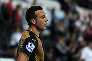 Santi Cazorla of Arsenal looks on. Barclays Premier league match, Swansea city v Arsenal  at the Liberty Stadium in Swansea, South Wales  on Saturday 31st October 2015.<br /> pic by  Andrew Orchard, Andrew Orchard sports photography.