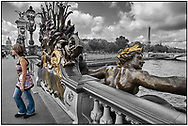Day Tripper - Paris is a  selective colour street photography series by photographer Paul Williams of tourists enjoying a sunny day visit to Paris taken on 15th July 2007. .<br /> <br /> Visit our REPORTAGE & STREET PEOPLE PHOTO ART PRINT COLLECTIONS for more wall art photos to browse https://funkystock.photoshelter.com/gallery-collection/People-Photo-art-Prints-by-Photographer-Paul-Williams/C0000g1LA1LacMD8