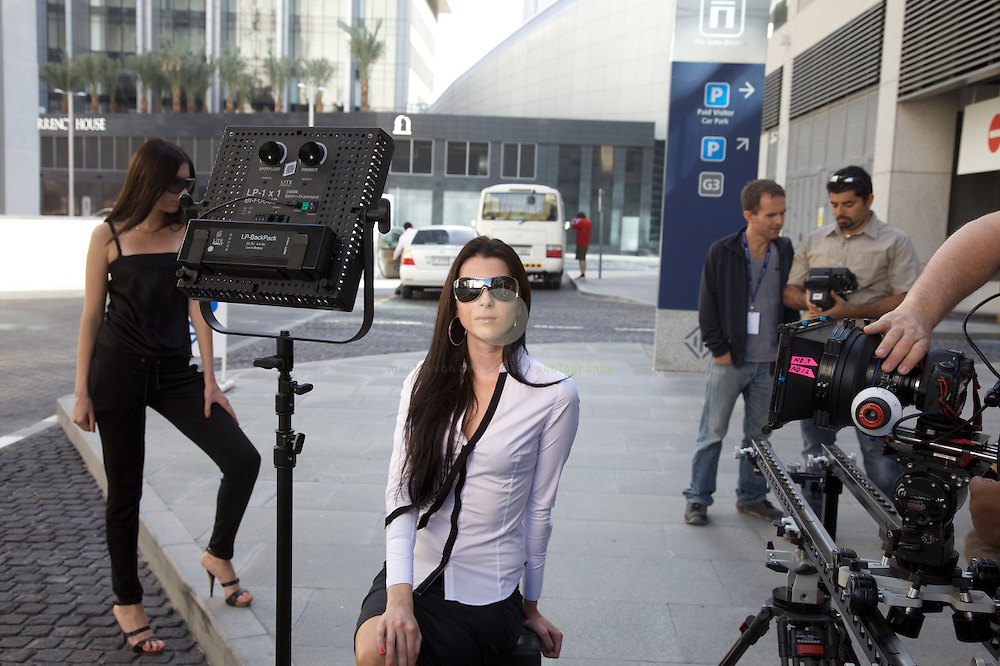 Here's the hands-on part: shooting at DIFC - the Dubai International Financial Center.