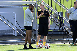 July 8, 2018 - Moscou, Russie - Kevin De Bruyne forward of Belgium talking to Thierry Henry ass. coach of Belgian Team (Credit Image: © Panoramic via ZUMA Press)