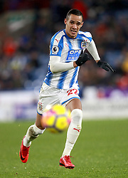 """Huddersfield town's Tom Ince during the Premier League match at the John Smith's Stadium, Huddersfield. PRESS ASSOCIATION Photo. Picture date: Tuesday December 12, 2017. See PA story SOCCER Huddersfield. Photo credit should read: Mike Egerton/PA Wire. RESTRICTIONS: EDITORIAL USE ONLY No use with unauthorised audio, video, data, fixture lists, club/league logos or """"live"""" services. Online in-match use limited to 75 images, no video emulation. No use in betting, games or single club/league/player publications."""