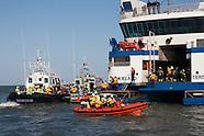 Waddenzee - Rampenoefening met veerboot - Exercise Wadden Sea ferry disaster