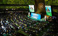 António Guterres, UN Secretary-General speaking at the United Nations Climate Action Summit in New York, U.S., on Monday, Sept. 23, 2019.