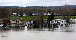 A flooded area of Gatineau, Quebec, seen from the Ottawa side of the Ottawa River, Monday, May 8, 2017. Photo by Fred Chartrand /The Canadian Press/ABACAPRESS.COM