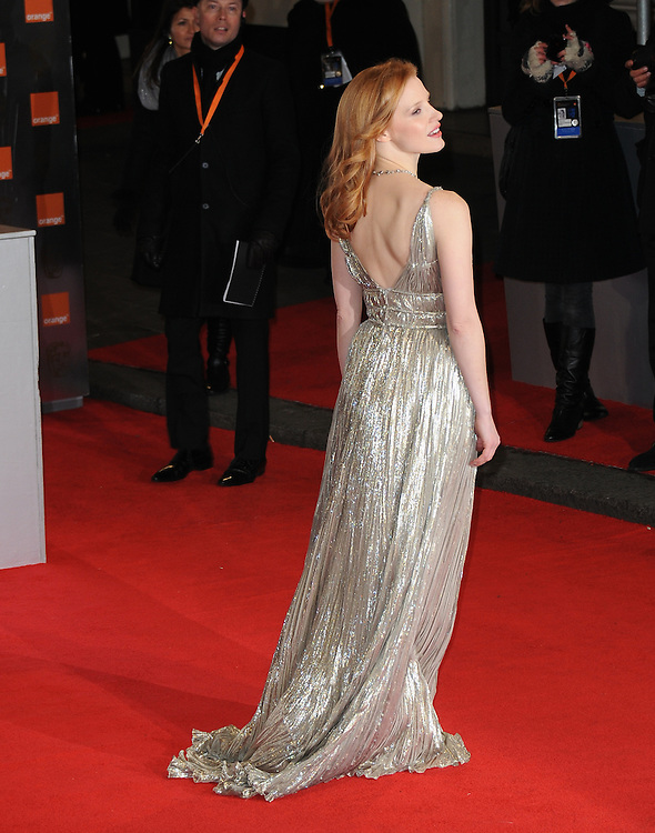 Jessica Chastain attends the Orange British Academy Film Awards 2012 at the Royal Opera House, London, UK.. 12/02/2012 Anne-Marie Michel/CatchlightMedia