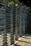 Tereny bylego niemieckiego nazistowskiego obozu koncentracyjnego i zaglady, Auschwitz<br /> Electrified fence - grounds of the former German Nazi concentration and extermination camps Auschwitz I, Poland