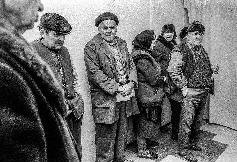 An MSF mobile team at a make shift doctors surgery in Ostrovo, Croatia. MSF provided curative health care to elderly and vulnerable populations in 12 remote villages in the region until March 1998.The patients were mainly elderly Serbs.