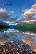 Late afternoon at Bowman Lake in Glacier National Park, Montana, USA