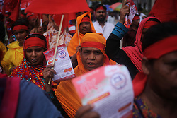 May 1, 2019 - Dhaka, Bangladesh - Bangladeshi workers and activists take part in May Day rally in Dhaka,  Bangladesh. (Credit Image: © Syed Mahamudur Rahman/NurPhoto via ZUMA Press)