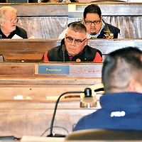 The Navajo Nation Council Naabik'iyati Committee passed legislation supporting 10 Nez-Lizer cabinet members Thursday. Rudy Shebala, as Natural Resources Division director, was one of the 10. Navajo Nation Council Delegate Herman Daniels sponsored Shebala's appointment with Paulsen Chaco, executive Office chief of staff.