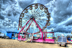 03 August 2017:  Ferris Wheel at 2017 McLean County Fair<br /> <br /> Image is an HDR (High Dynamic Range) composite of 3 images merged together.<br /> <br /> #alphoto513