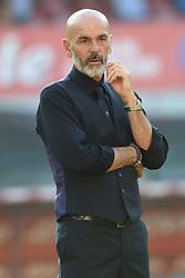 September 15, 2018 - Naples, Naples, Italy - Head Coach of ACF Fiorentina Stefano Pioli during the Serie A TIM match between SSC Napoli and ACF Fiorentina at Stadio San Paolo Naples Italy on 15 September 2018. (Credit Image: © Franco Romano/NurPhoto/ZUMA Press)