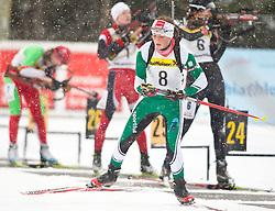 11.12.2010, Biathlonzentrum, Obertilliach, AUT, Biathlon Austriacup, Sprint Lady, im Bild Lisa Ehgartner (AUT, #8). EXPA Pictures © 2010, PhotoCredit: EXPA/ J. Groder