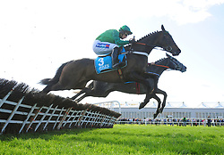 Fusil Raffles and Daryl Jacob win the Grade 1 AES Champion Four Year Old Hurdle during day five of the Punchestown Festival at Punchestown Racecourse, County Kildare, Ireland.