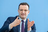 """09 APR 2020, BERLIN/GERMANY:<br /> Jens Spahn, CDU, Bundesgesundheitsminister, Pressekonferenz """"Unterrichtung der Bundesregierung zur Bekämpfung des Coronavirus"""", Bundespressekonferenz<br /> IMAGE: 20200409-01-029<br /> KEYWORDS: BPK"""