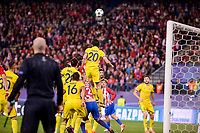 Atletico de Madrid's player Diego Godín, Filipe Luis and Yannick Carrasco and CF Rostov's player Christian Noboa, Andrei Prepelita and Sardar Azmoun during a match of UEFA Champions League at Vicente Calderon Stadium in Madrid. November 01, Spain. 2016. (ALTERPHOTOS/BorjaB.Hojas)