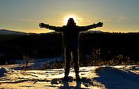 Winter sun in the Yukon
