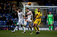 Alex Woodyard of Peterborough United chips the ball forward during the EFL Sky Bet League 1 match between Oxford United and Peterborough United at the Kassam Stadium, Oxford, England on 16 February 2019.