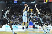 DESCRIZIONE : Eurocup 2013/14 Gr. J Dinamo Banco di Sardegna Sassari -  Brose Basket Bamberg<br /> GIOCATORE : Manuel Vanuzzo<br /> CATEGORIA : Tiro Tre Punti<br /> SQUADRA : Dinamo Banco di Sardegna Sassari<br /> EVENTO : Eurocup 2013/2014<br /> GARA : Dinamo Banco di Sardegna Sassari -  Brose Basket Bamberg<br /> DATA : 19/02/2014<br /> SPORT : Pallacanestro <br /> AUTORE : Agenzia Ciamillo-Castoria / Luigi Canu<br /> Galleria : Eurocup 2013/2014<br /> Fotonotizia : Eurocup 2013/14 Gr. J Dinamo Banco di Sardegna Sassari - Brose Basket Bamberg<br /> Predefinita :