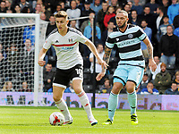 Football - 2016 /2017 Championship - Fulham vs Queens Park Rangers<br /> <br /> Tom Cairney of Fulham and Joel Lynch at Craven Cottage<br /> <br /> <br /> Credit : Colorsport / Andrew Cowie