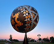 'Ukrainian Egg' of the Ukrainian Capital of Canada<br /> Vegreville<br /> Alberta<br /> Canada