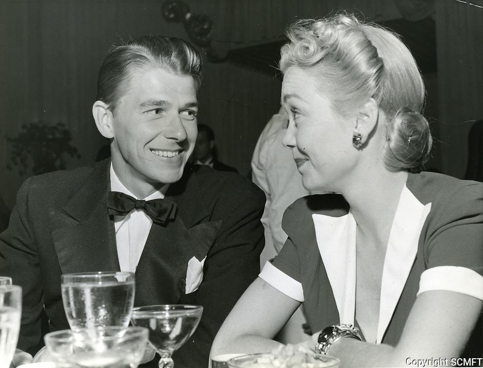1941 Ronald Reagan & Jane Wyman at Ciro's Nightclub