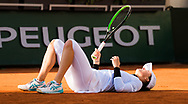 Iga Swiatek of Poland in action during the doubles semi-final of the Roland Garros 2020, Grand Slam tennis tournament, on October 9, 2020 at Roland Garros stadium in Paris, France - Photo Rob Prange / Spain ProSportsImages / DPPI / ProSportsImages / DPPI