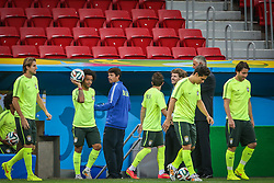 Treino do Brasil antes da partida contra Camarões, válida pela terceira rodada do Grupo A da Copa do Mundo 2014, no Estádio Nacional Mané Garrincha, em Brasília-DF. FOTO: Jefferson Bernardes/ Agência Preview