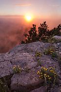 Sandia Peak, sunset, Rio Grande below sun left, Albuquerque, New Mexico,