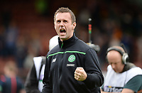 09/08/15 LADBROKES PREMIERSHIP<br /> PARTICK THISTLE v CELTIC<br /> FIRHILL - GLASGOW<br /> Celtic Manager Ronny Deila celebrates at full-time