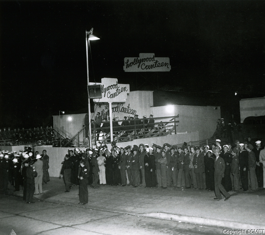 10/3/42 Opening night at the Hollywood Canteen
