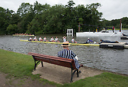 Henley on Thames. United Kingdom.  Spectators watch the racing at the start. Wednesday,  29/06/2016,      2016 Henley Royal Regatta, Henley Reach.   [Mandatory Credit Peter Spurrier/ Intersport Images]