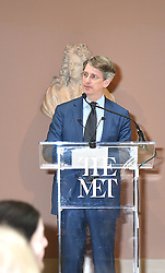 Thomas P Campbell  speaks at the Press Preview of Rei Kawakubo/Comme des Garcons: Art of the In-Between exhibit at The Costume Institute at the Metropolitan Museum of Art on May 1, 2017 in New York, New York, USA.  *** Please Use Credit from Credit Field ***