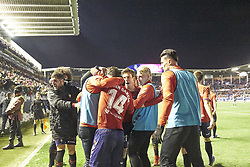 February 3, 2019 - Pamplona, Spain - Ruben García (midfield; CA Osasuna) seen celebrating a goal during the Spanish football of La Liga 123, match between CA Osasuna and  Granada CF at the Sadar stadium, in Pamplona (Navarra), Spain. (Credit Image: © Fernando Pidal/SOPA Images via ZUMA Wire)