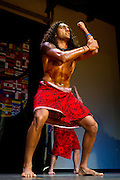 Harpreet Singh '12 performs a traditional haka from New Zealand during the ISO Cultural Evening in the Harris Center. BEN BREWER/Grinnell College
