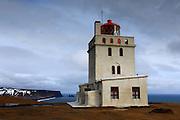 Lighthouse at Dyrhólaey, near Vík in Southern Iceland