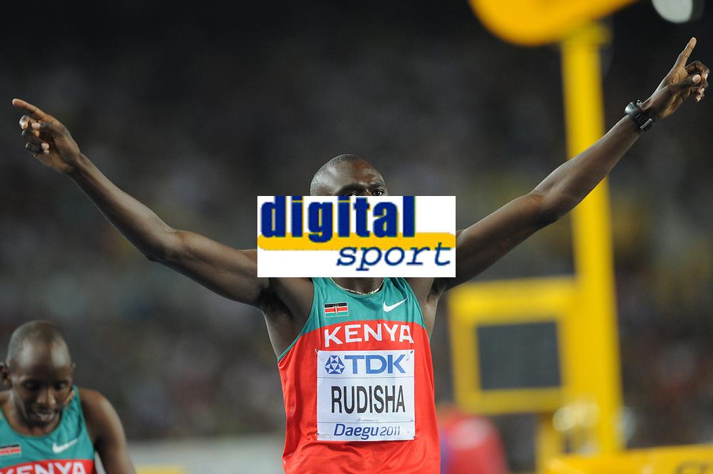 ATHLETICS - IAAF WORLD CHAMPIONSHIPS 2011 - DAEGU (KOR) - DAY 4 - 30/08/2011 - PHOTO : STEPHANE KEMPINAIRE / KMSP / DPPI - <br /> 800 M - MEN - FINALE - WINNER - DAVID RUDISHA (KEN)